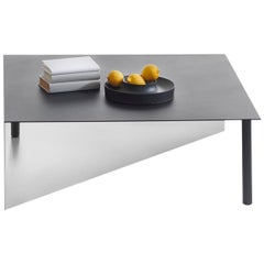 "FUCINA ""PIATTO"" Sam Hecht & Kim Collin, Large Square Table Metal Steel Black"