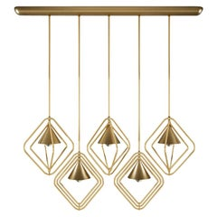 21st Century Portman Suspension Lamp Aged Brass