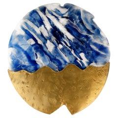 21st Century Poseidon Wall Lamp Artisanal Glass Brass