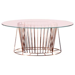 21st Century Principessa Oval Shaped Glass 8-Seat Dining Table