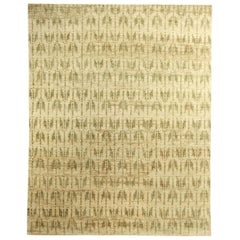 21st Century Quiver Beige and Olive Handmade Hemp Rug by Bunny Williams