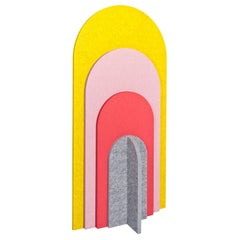 21st Century Rainbow Small Sound Absorbing Room Divider by Marie Aigner