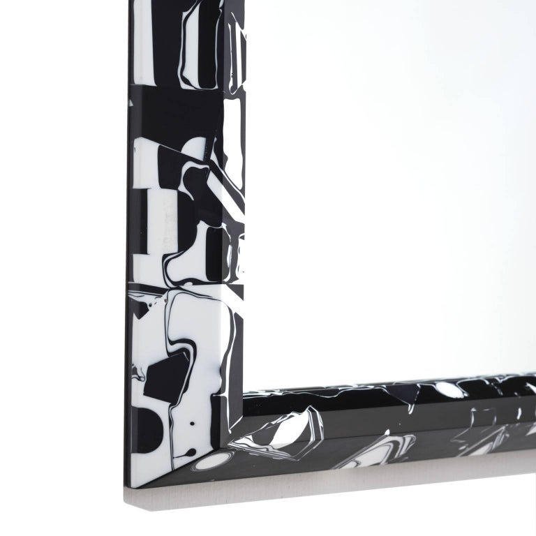 Contemporary 21st Century Resin Black Magic Mirror For Sale