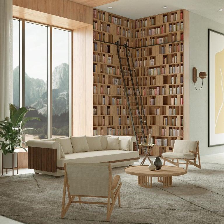 Portuguese 21st Century Richard Center Table Walnut Wood For Sale