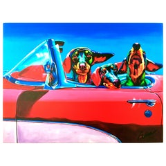 "21st Century Ron Burns Limited Edition ""Dox Rock"" Giclee On Canvas 46/100"