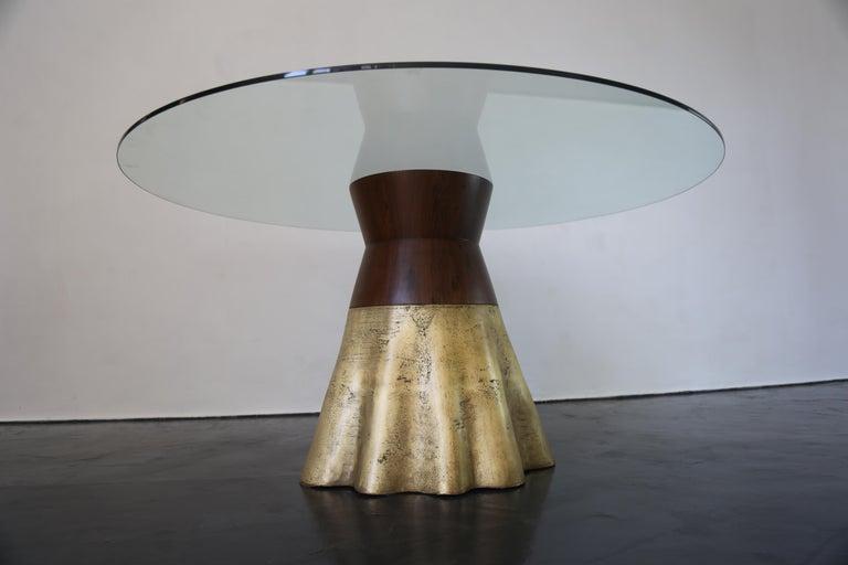 Contemporary 21st Century Round Cast Bronze
