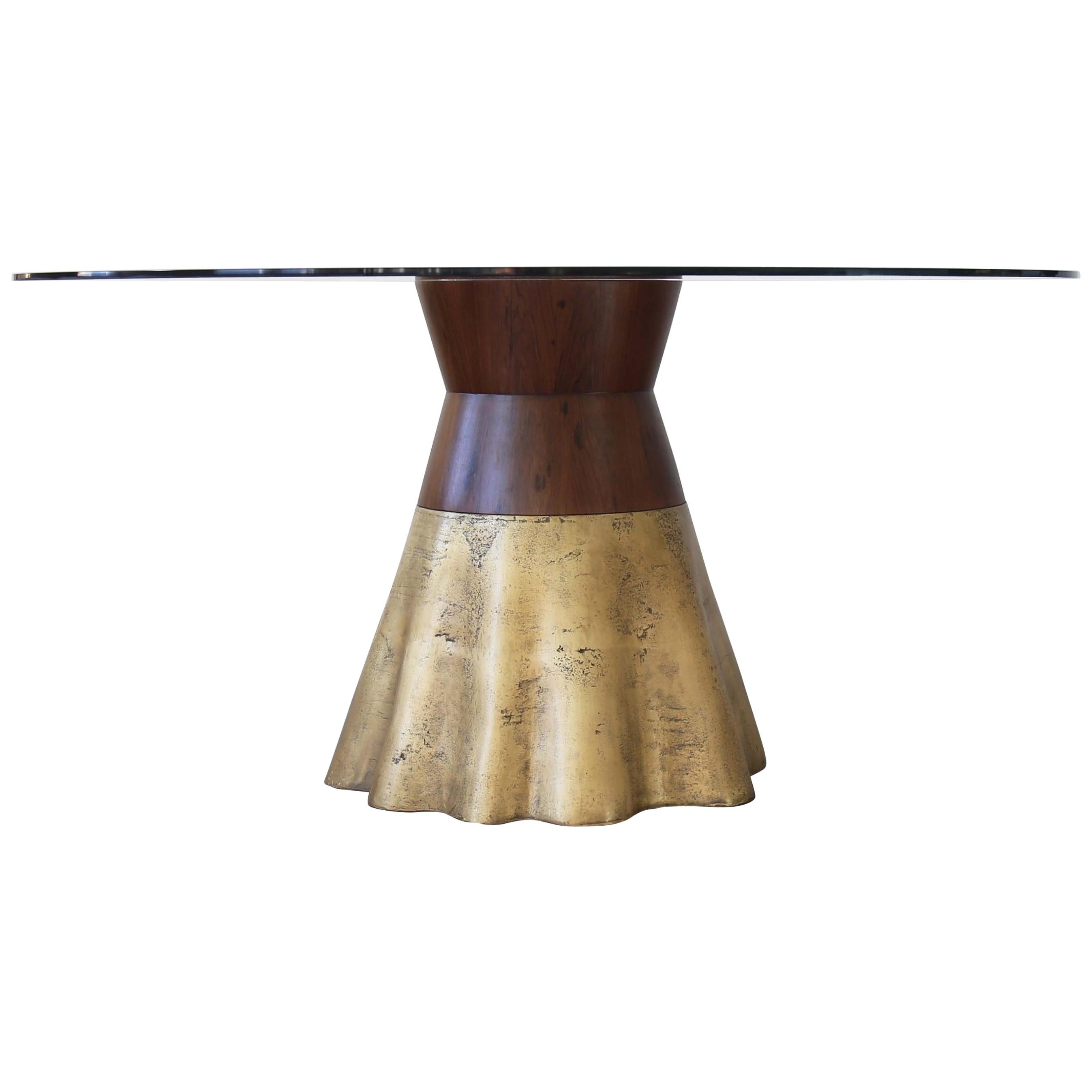 21st Century Round Dining Table in Cast Bronze from Costantini, Tavola 9