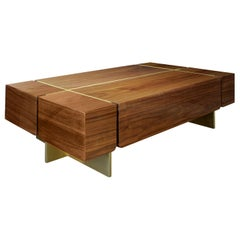 21st Century Route Center Table Walnut Wood