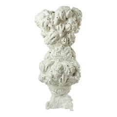 """21st Century Sculpture """"OYSTER CLOUD"""" by Nitsa Meletopoulos Porcelain White"""