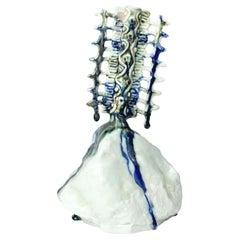 "21st Century Sculpture ""RIVER"" by Nitsa Meletopoulos Porcelain White"
