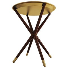 21st Century Seattle Side Table Brushed Brass