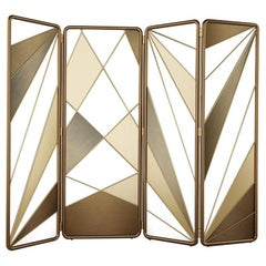 21st Century Seattral Folding Screen Stained Steel