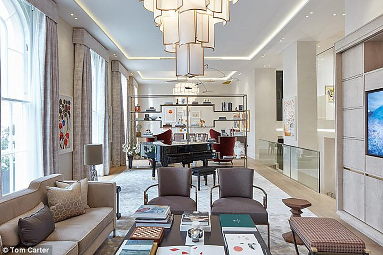 Galvanized 21st Century Shade Chandelier by Officina Luce Ivory Parchment and Brass Shades For Sale