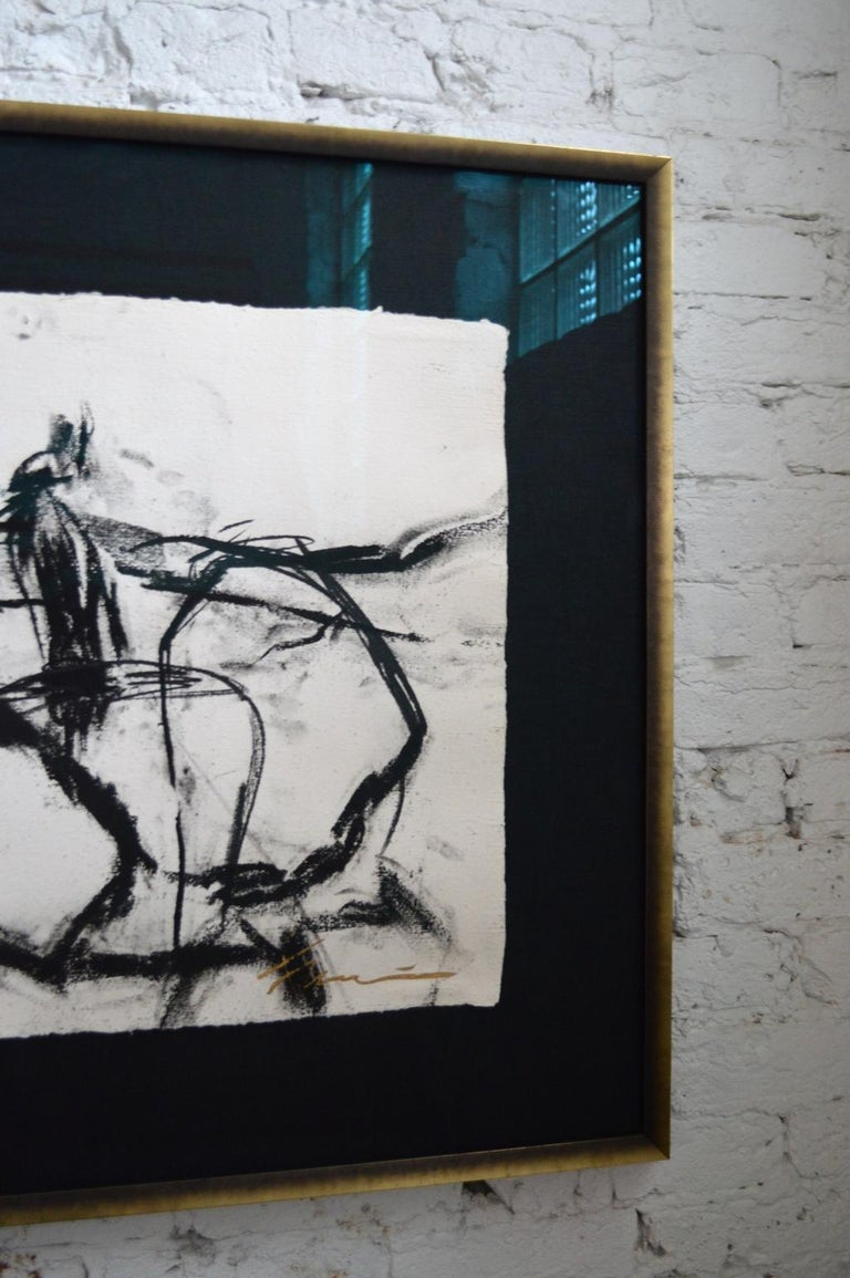 21st Century Signed Charcoal Drawing by Francine Turk In New Condition For Sale In Chicago, IL