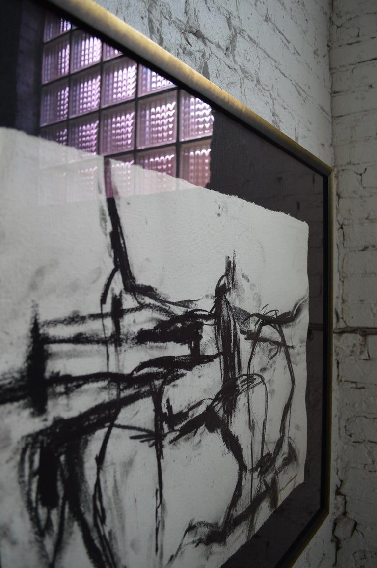 21st Century Signed Charcoal Drawing by Francine Turk For Sale 4