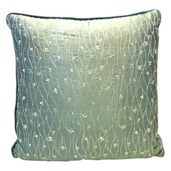 21st Century Silk Blend, Velvet and Feather Down Filled Large Pillow
