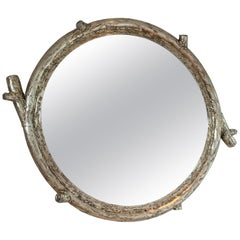 21st Century Silver-Leaf Wrought Iron Sculpted Branch Hiver Mirror by CasaMidy