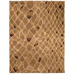 21st Century Snake Design Handmade Wool Rug