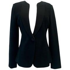 21st Century St. John Black  Silk Knit Jacket Size 8