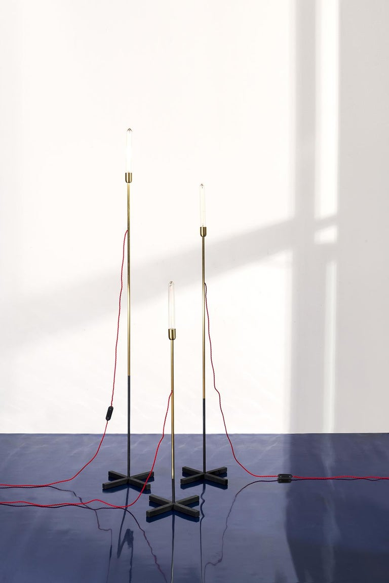 21st Century Standing Lamps Floor Lamps in Opaque Brass In New Condition For Sale In Milan, IT