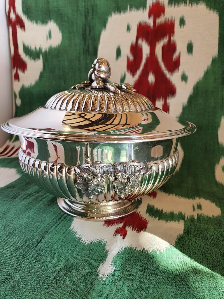 Rococo Revival 21st Century Sterling Silver Soup Tureen, Italy, 2001 For Sale