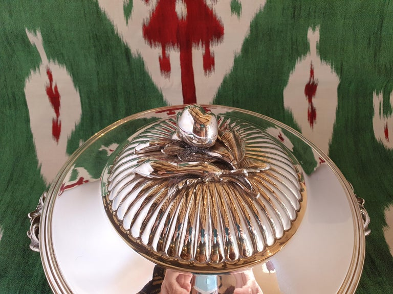 Italian 21st Century Sterling Silver Soup Tureen, Italy, 2001 For Sale