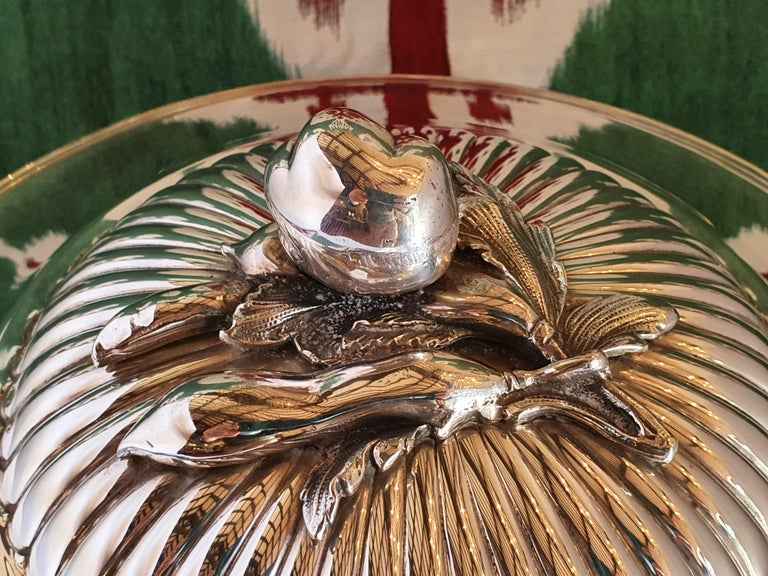 21st Century Sterling Silver Soup Tureen, Italy, 2001 In New Condition For Sale In Cagliari, IT