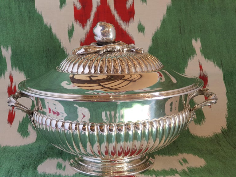 21st Century Sterling Silver Soup Tureen, Italy, 2001 For Sale 1