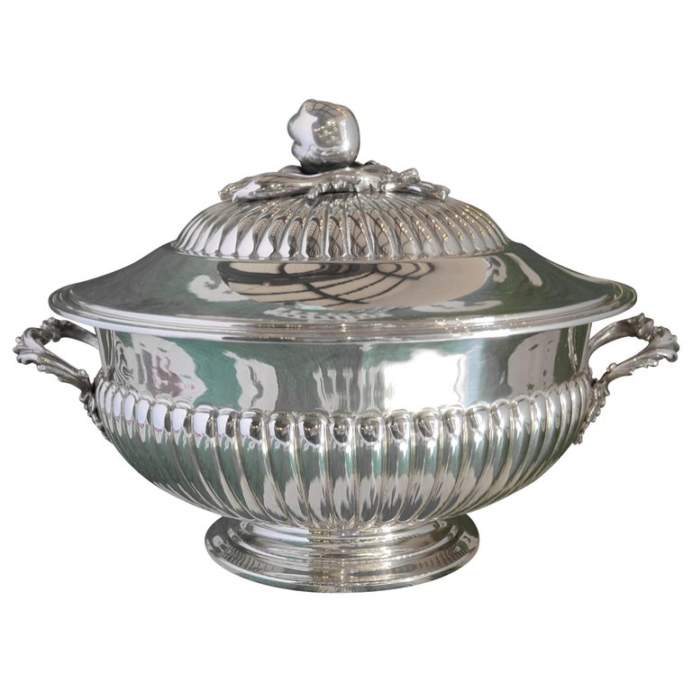 21st Century Sterling Silver Soup Tureen, Italy, 2001 For Sale
