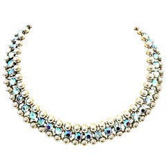 21st Century Sterling & Swarovski Crystal Choker Necklace By, De Luxe NYC A'dam