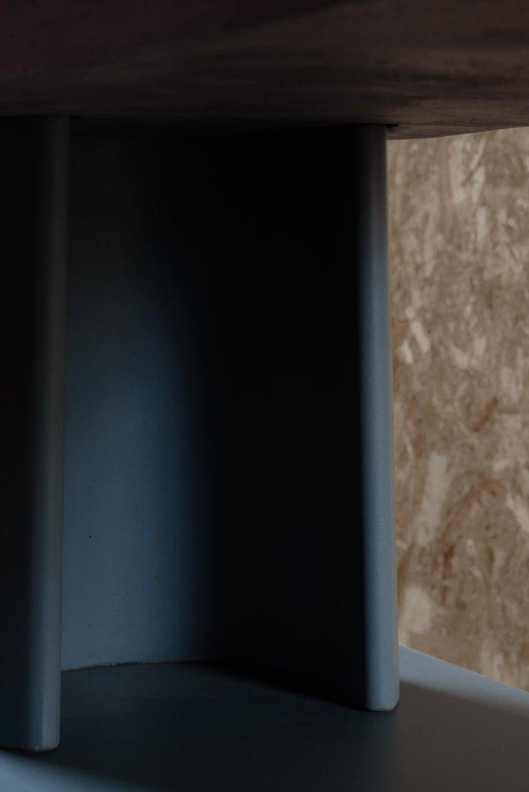 Cast 21st Century Studio Irvine Fusto Bookcase Mod.I Concrete Bookshelf Blue Cement For Sale