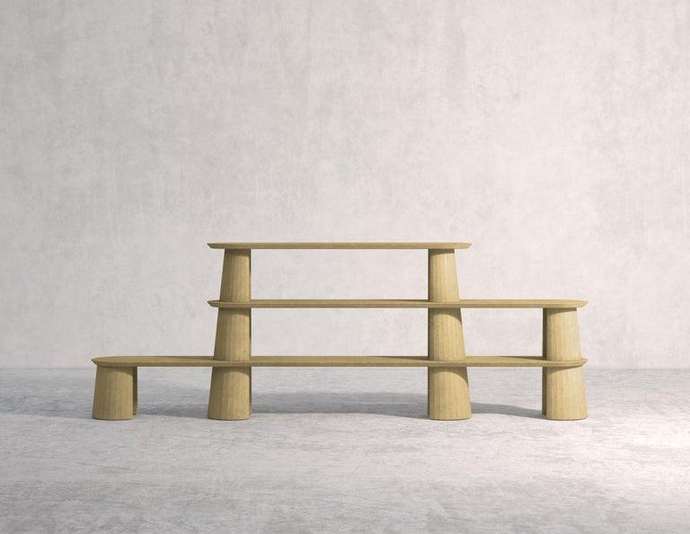 21st Century Studio Irvine Fusto Bookcase Mod.I Concrete Bookshelf Blue Cement For Sale 7