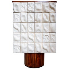 """21st Century """"Surfaced cabinet"""" by Rem Atelier Ceramic Palisander Wood White"""