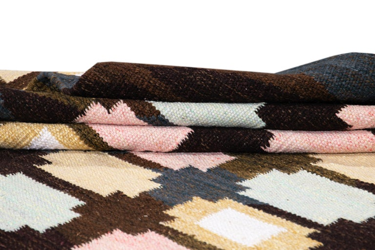 Contemporary  21st Century Modern Swedish-Style Wool Rug  For Sale