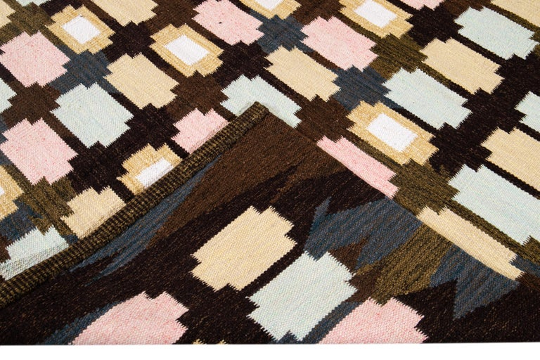 21st Century Modern Swedish-Style Wool Rug  In New Condition For Sale In Norwalk, CT