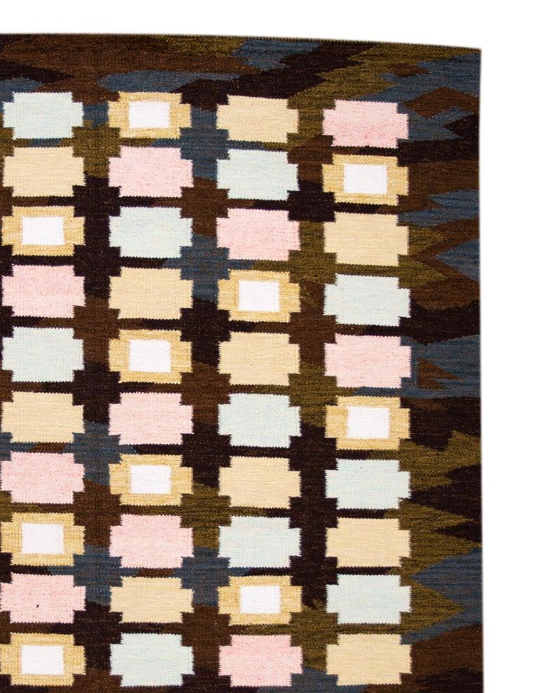 21st Century Modern Swedish-Style Wool Rug  For Sale 1