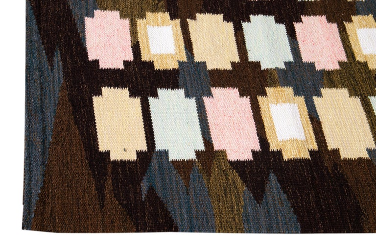 21st Century Modern Swedish-Style Wool Rug  For Sale 3