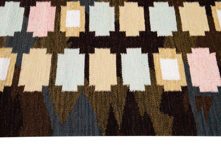 21st Century Modern Swedish-Style Wool Rug  For Sale 4