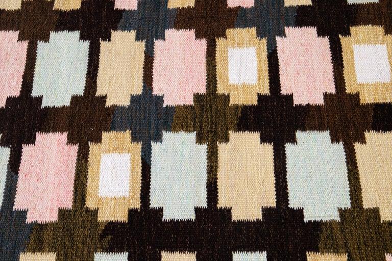21st Century Modern Swedish-Style Wool Rug  For Sale 5