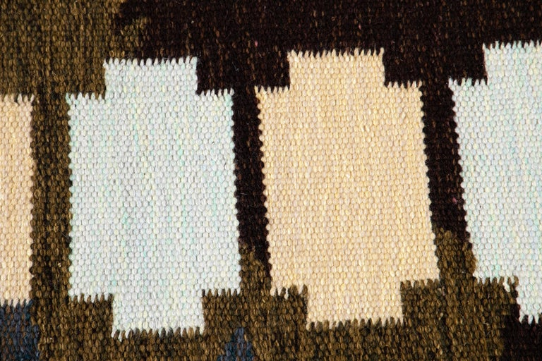 21st Century Modern Swedish-Style Wool Rug  For Sale 6