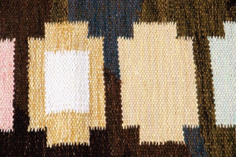 21st Century Modern Swedish-Style Wool Rug  For Sale 7
