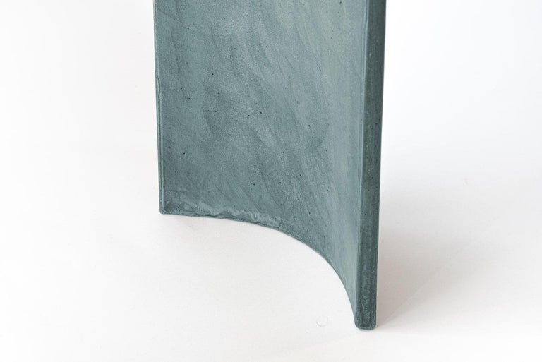 Modern 21st Century TadaoAlto Concrete Console, Light Blue Cement Color Special Edition For Sale