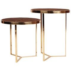 21st Century Tarsia Side Table Palisander