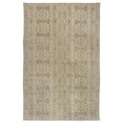21st Century Taupe and Beige Handmade Wool Rug