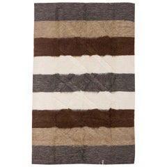 21st Century Taurus Collection Rug in Brown, White and Grey Stripes