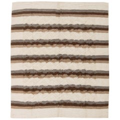 21st Century Taurus Collection Rug in Shades of White, Grey and Brown Stripes