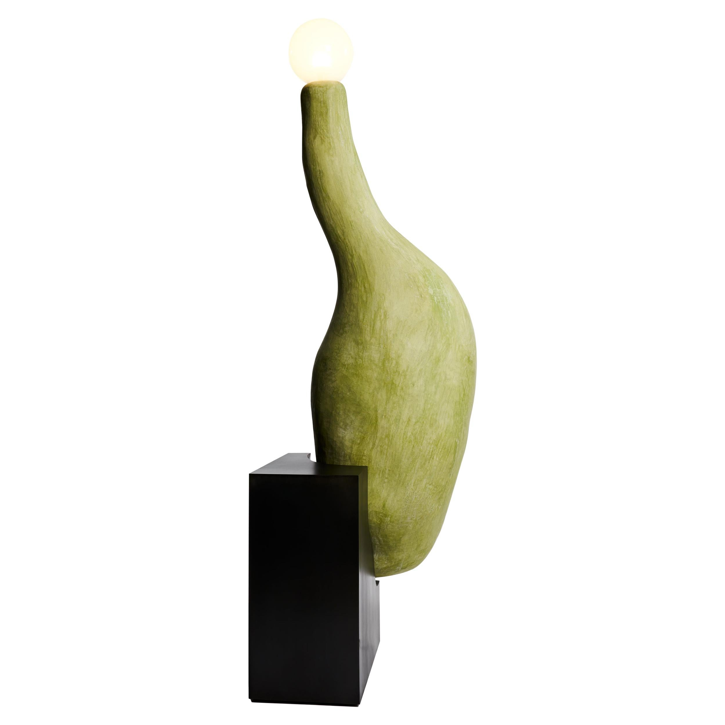 "21st Century ""Tentacle Lamp"" by J Mc Donald Organic Floor Lamp Steel Glass Light"