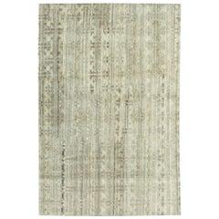 21st Century Tibetan Terra Rug in Natural Wool