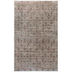 Doris Leslie Blau Collection Traditional Inspired Rug in Brown & Purple