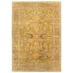 21st Century Traditional Oriental Inspired Yellow Handmade Wool Rug